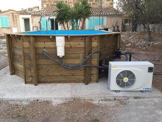 Climatización bomba de calor piscina