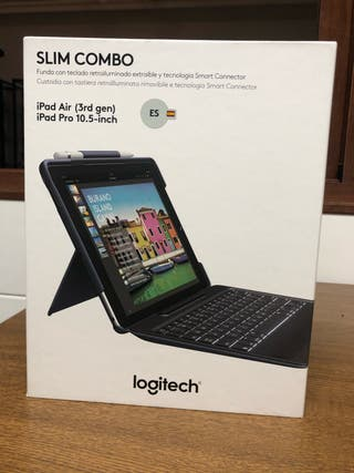 Logitech slim combo, teclado ipad