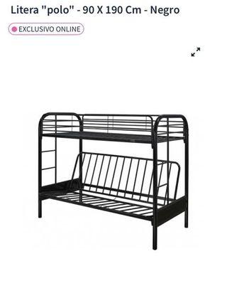 Litera + futón negro