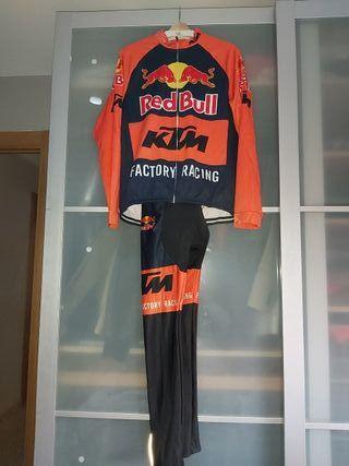 maillot cillismo talla L-XL ktm culotes