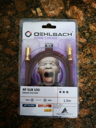Cable de subwoofer Oehlbach NF SUB 100