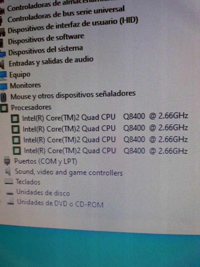 CPU 4 núcleos y 8 gigas de ram