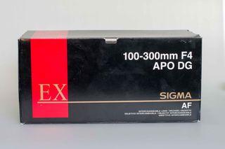 Sigma 100-300mm F4 EX APO DG HSM para Canon