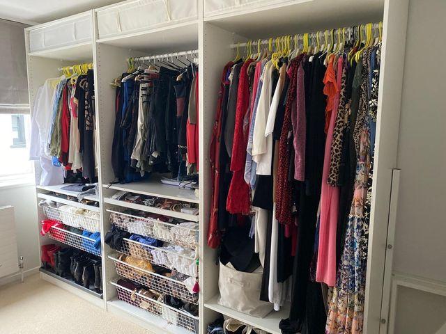 White open wardrobe from ikea