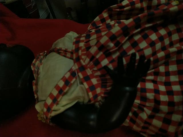 muñeca antigua negra años 50