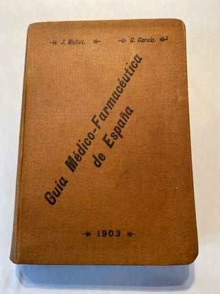 Libro antiguo de medicina 1903