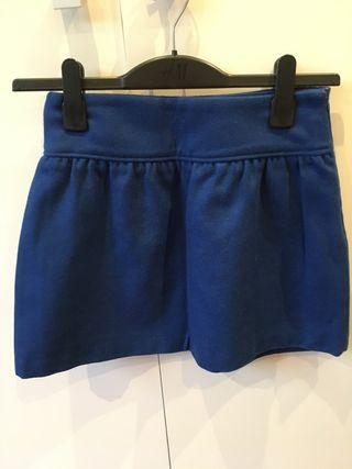 Falda azul paño