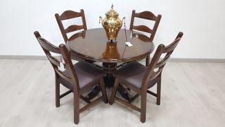 Mesa Comedor con 4 sillas Rustica