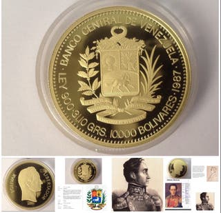 10000 Bs VENEZUELA, 1987 ORO
