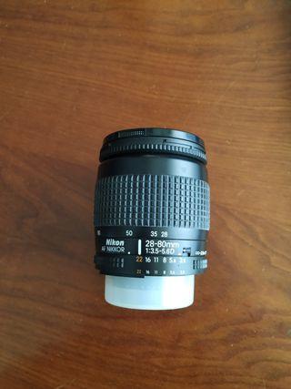 Nikon objetivo Nikkor zoom 28-80 mm f/3.5-f/5.6 D