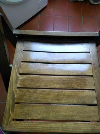 4 sillas plegables de madera