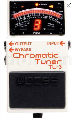 Pedal guitarra Boss TU-3 afinador