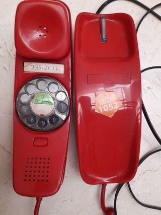 Teléfono rojo Góndola antiguo