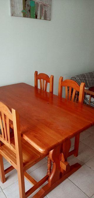 mesa comedor excelente calidad + 4 sillas
