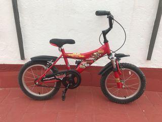 Bici de niño de Cars