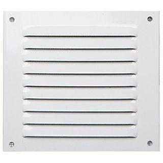 Rejilla de ventilación aluminio blanca - 10X10CM
