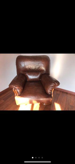Precioso sillón de piel