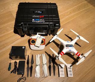 drone phantom 2 + go pro hero 4