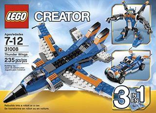 LEGO Creator 3en1 - Avión ultrasónico