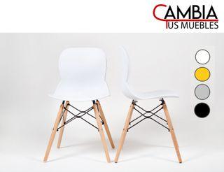 Pack 2 sillas comedor salón DREAM, patas en madera