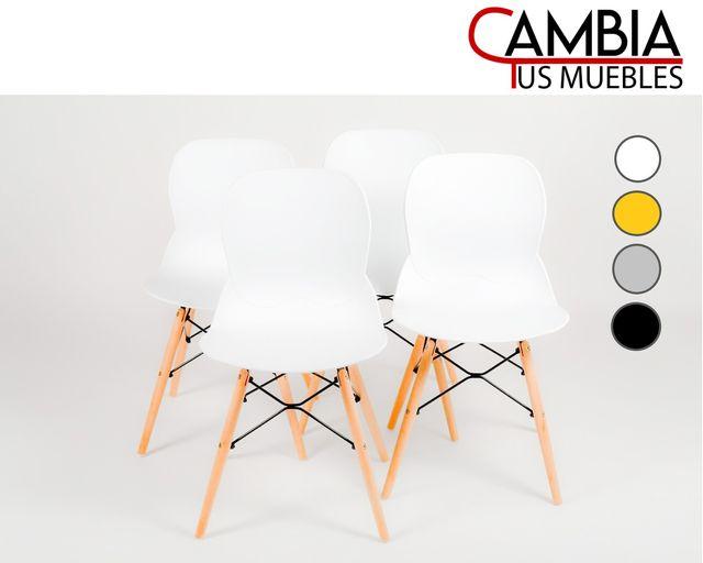 Pack 4 sillas comedor salón escandinava DREAM