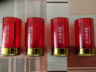 Vasos de chupito rojos cartucho calibre 12