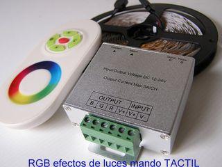 Controlador RGB efectos de luces con mando tactil