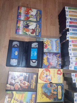 colección de VHS DE PELÍCULAS Y SERIES INFANTILES,
