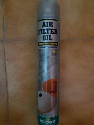 spray de aceite para filtros