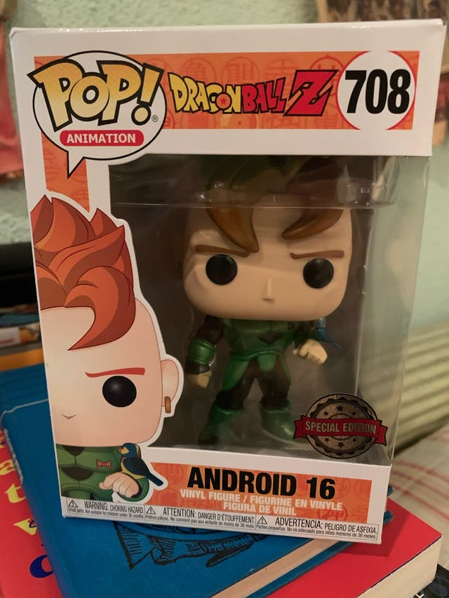 figura funko pop android 16 androide 16 dragon bal