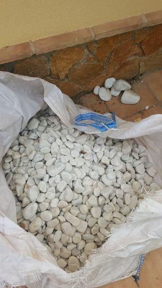 150 kg piedras calcareas decorativas blancas