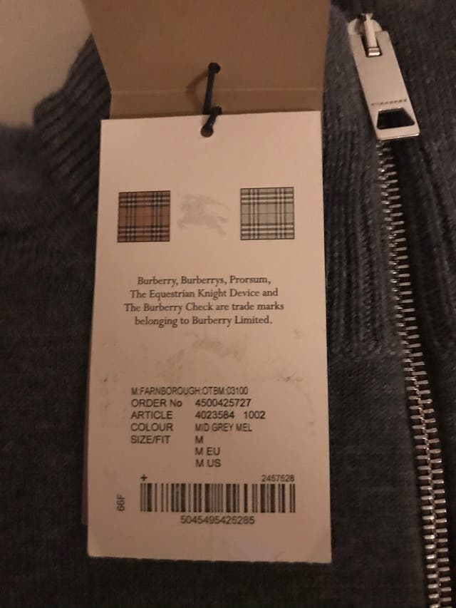 Mens Burberry Jumper