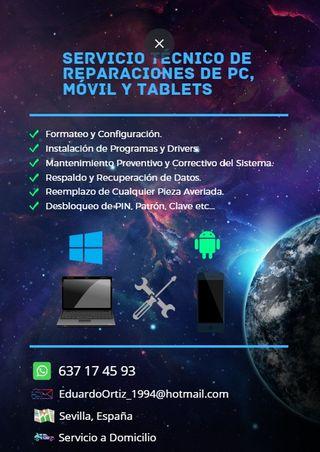 Reparación PC, Móviles y Tablets
