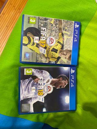 Fifas para PS4 (17, 18)