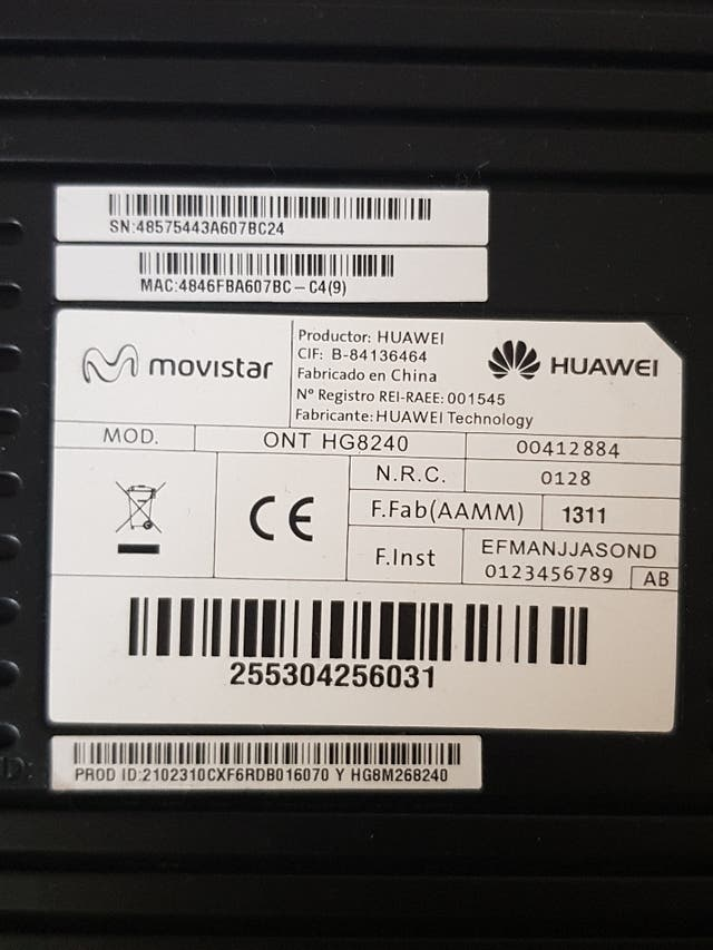 Router y decodificador tv MOVISTAR