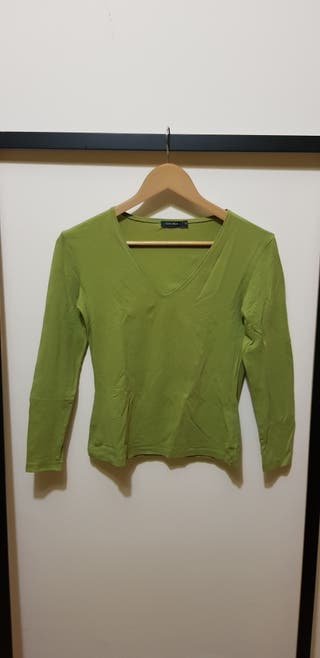 Jersey verde manga larga