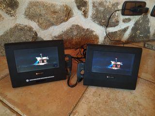 Video portatil doble para coche