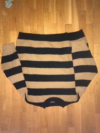 Jersey rayas negras y beiges