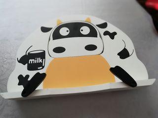 soporte libros vaca