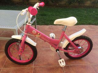 Bicicleta niña con ruedines