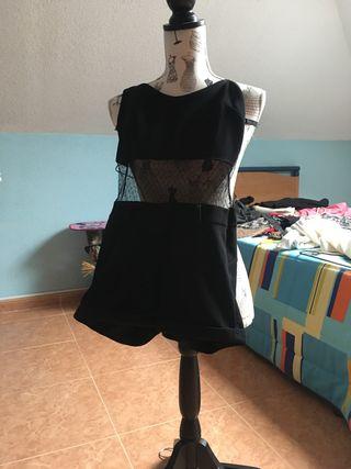 Body negro con transparencias