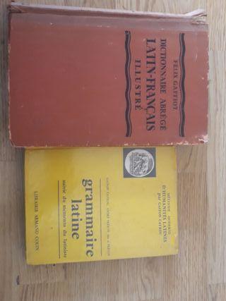 Diccionario latín francés y gramática