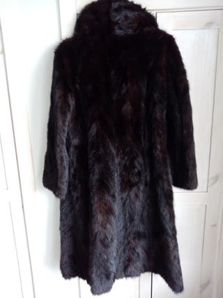 abrigo piel de vison