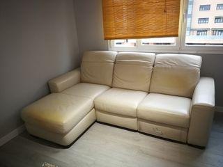 Sofá piel 3 plazas con chaise longue Natuzzi