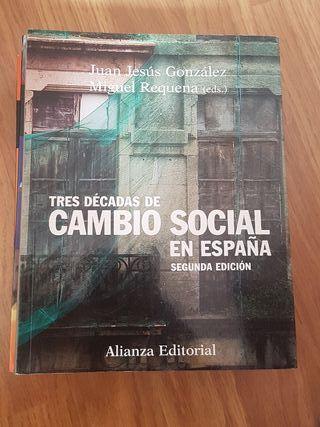 Trabajo social Uned - cambio social en España