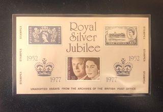 Hoja Filatélica STAMPEX 1977 Silver Jubilee