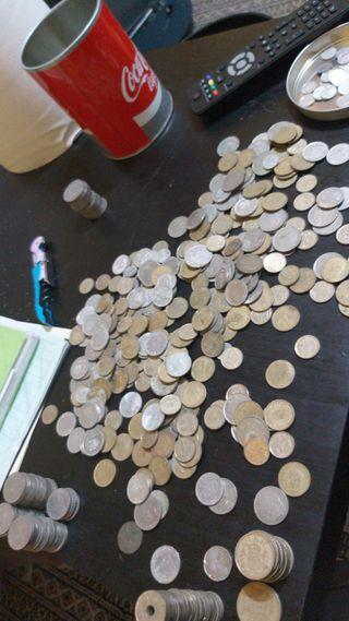 Lote de pesetas antiguas
