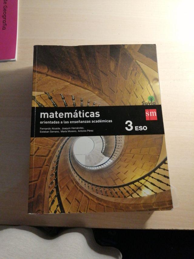 libro de matemáticas de 3eso