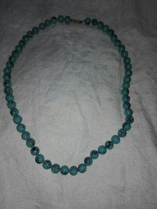 collar vintage turquesas