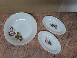 Vajilla, arcopal flor de almendro, 33 piezas